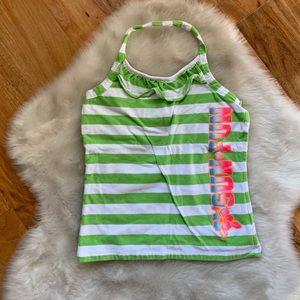 Children's Place Girls striped halter top Sz 10/12